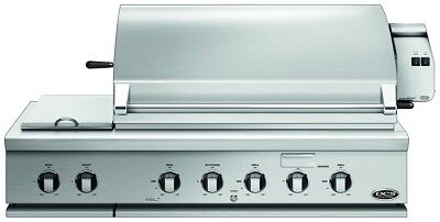 DCS 48 Inch Natural Gas Grill with Dual Side Burner and Rotisserie Burners Double Rotisserie