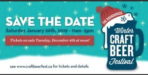2 tickets to Winter Craft Beer Festival