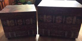 2 matching storage chests