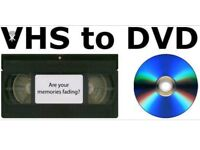 VHS to DVD or pen-drive converting service