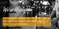 experienced bartender with VLT experience