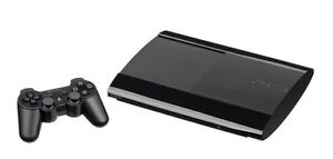 PS3 Super Slim with 2 controllers, 17 games