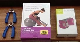 PILATES STARTER KIT + DAVINA McCALL WEIGHTS + HAND STRENTHENERS