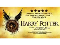 2x Stalls Tickets Harry Potter and the Cursed Child. Row BB. Sunday 29th October. (Part 1&2)
