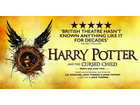 5 x Front Row Tickets for Harry Potter & the Cursed Child Play (Part 1 & 2) - Fri, Sep 1st