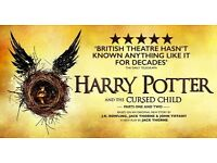 Harry Potter and the Cursed Child tickets for part 1 & 2, Saturday 26th of August 2pm & 7:30pm £170