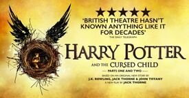 Harry Potter and the Cursed Child Part One and Two Theatre Tickets (x2)
