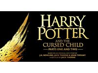 2 Harry Potter and the Cursed Child Theatre tickets part 1 and part 2 Saturday 5th August