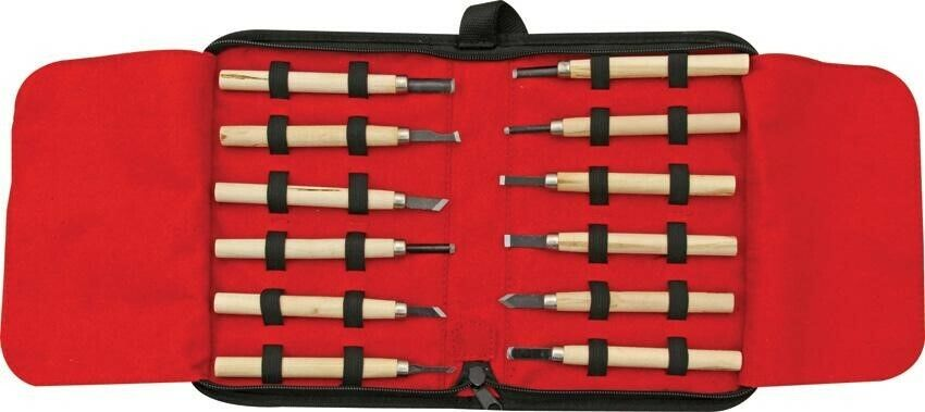 Rough Rider 12pc Woodcarving Set