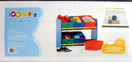 Storage Shelves Roomates Childrens Kids Toys Books New In Box