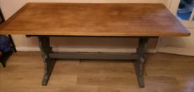 Solid Wooden Modern Farmhouse Table 168cm x 76cm