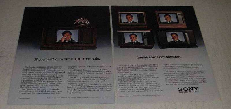 """1982 Sony Limited Edition 30"""" Console Television Ad"""