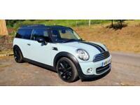 2011/61 MINI CLUBMAN COOPER 1.6D with CHILLI BLUE / BLACK ROOF 112bhp TD £20 TAX