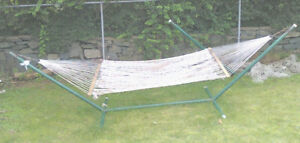 Large Hammock with Matching Stand