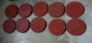 10 red turf stepping stones, good condition