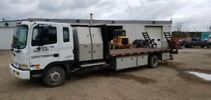 Flat Deck Truck with low miles Cummins engine