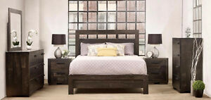 NEW Rustic Wormy Maple Hand Planed Bedroom Set