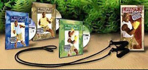 Billy Blanks Fitness 4 DVD + Fitness Bänder Boot Camp Tae BO TAE Boxing Aerobic