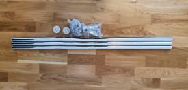 Extendable Metal Curtain Pole. Chrome, Lengh 210-310cm