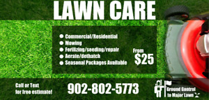 Lawn Care/ Mowing from $25