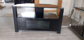 TV cabinet, shelves and coffee table