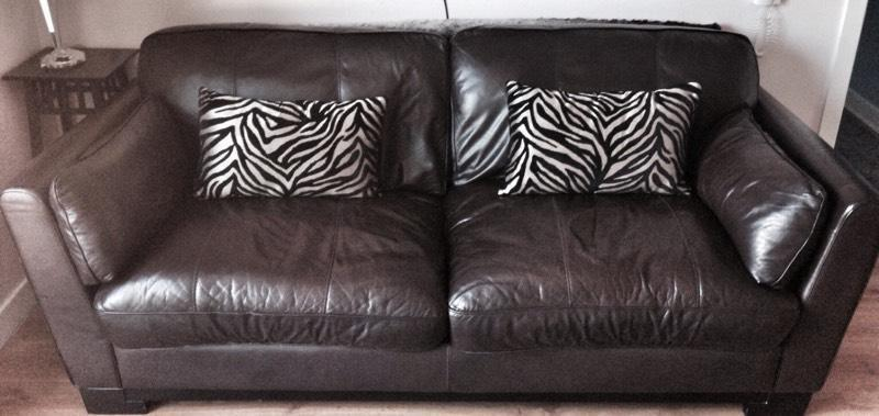 Sofa 3 Seater Brown Leather 170 Ono In Belfast City