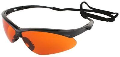 Jackson Nemesis Safety Glasses Black Frame Blue Shield Lens