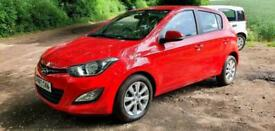 2013 HYUNDAI i20 1.2 85ps ACTIVE 5DR RED with BLUETOOTH & A/C £30 CHEAP TAX FSH