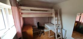 IKEA loft bunk bed. High sleeper. Single bed.