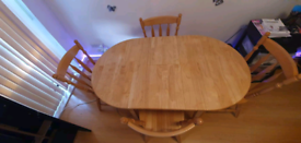 DINING ROOM TABLE+4 CHAIRS
