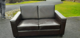 2 faux leather sofas for sale