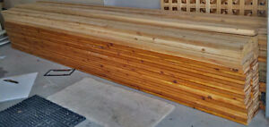 12'x12' or 12'x16' Cedar Deck Material (Brand New) Stained