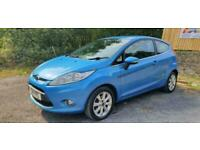 2011 FORD FIESTA 1.25 (82ps) ZETEC 3DR BLUE NEW MOT DELIVERY AVAILABLE PART EX