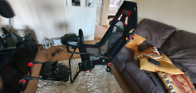 Next Level Racing F-GT Light plus Logitech g920 Wheel Pedals and Shift