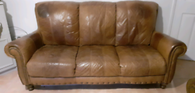 2 Second hand Vintage leather sofas
