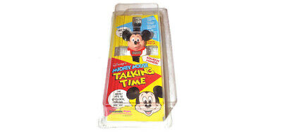 """Vintage 1991 Sealed Disney Mickey Mouse """"Talking Time"""" Watch *RARE / NEW*"""