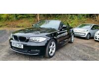 2009/59 BMW 118D 2.0TD SPORT CONVERTIBLE BLACK CABRIOLET 2DR DIESEL 1 SERIES D