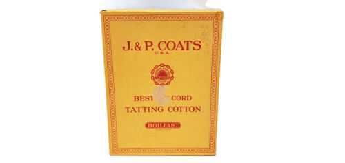 J & P Coats 12 balls of Tatting Cotton Crochet Thread in Original Vintage Box