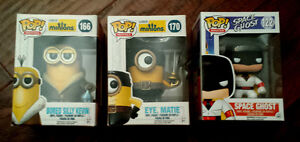 Funko Pop Vinyl figures - Minions, Space Ghost Cambridge Kitchener Area image 1