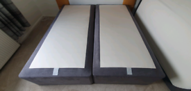 Hypnos super king size divan bases can be split for 2 singles