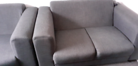 2 grey seater sofas £150 the pair or £75 each