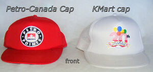 2 Petro-Canada 1 K-Mart L/XL baseball caps, $20 ea new/like new