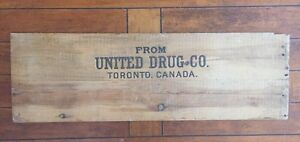 Antique wooden crate (front) 30.5 x 20 inches