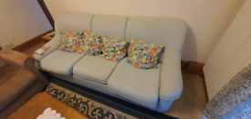 Sofa bed and arm chairs