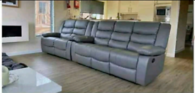 Beand new Leather recliner sofas