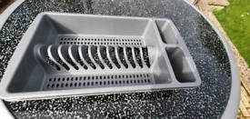 Single countertop drainer/strainer
