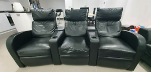 Recliner 3-Seater Artificial Leather Black