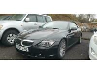 2005 BMW 645CI AUTO V8 CABRIOLET 2DR CONVERTIBLE BLACK PART EX TO CLEAR / TRADE