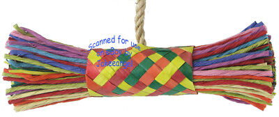 Parrot Pinata Bird Toys - Large String & Buri Bundle Chew Shredder Chomp Sisal](Parrot Pinata)