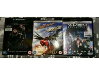 Selection of 4k blu rays (Valerian, Spider-man Homecoming & X-men Apocalypse